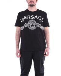 Versace Camiseta negra de manga corta - Negro