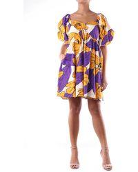 Jucca Robe courte à motifs manches courtes - Multicolore