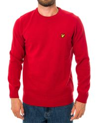 Lyle & Scott Maglione crew neck lambswool blend jumper kn921vf.w115 - Rosso