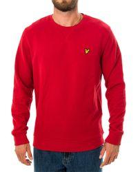 Lyle & Scott Felpa crewneck sweatshirt ml424vtr.w115 - Rot