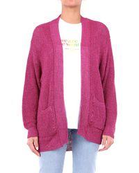 Laneus Cardigan color ciclamino - Rosa