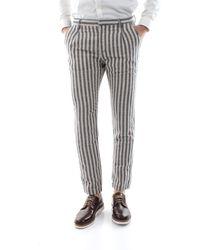 Yan Simmon Pantalone chinos realizzato in freschissimo lino/cotone, 50%li 25%co 25%pl - Blu
