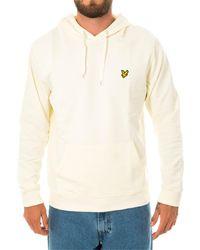 Lyle & Scott Felpa ls pullover hoodie ml416vtr.w120 - Bianco