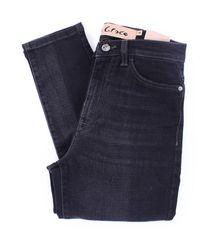 Manila Grace Manila – grace skinny-jeans in schwarz
