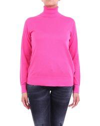 Calvin Klein Jersey de cuello alto - Rosa