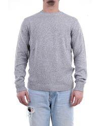 Heritage Pull gris et blanc chiné