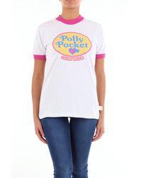 Gcds T-shirt blanc à manches courtes