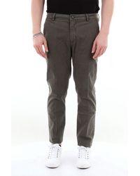 Yan Simmon Pantalón chino de color liso con bolsillo americano - Gris
