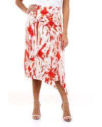 Essentiel Antwerp Falda larga bicolor - Rojo