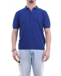 Heritage Polo de manga corta en azul cobalto