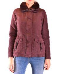 Peuterey Prendas de abrigo largo - Morado