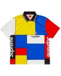 Supreme Polo colorblocked soccer fw20kn35 - Blu