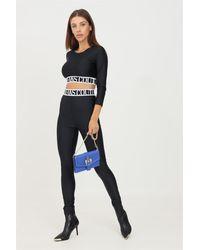 Versace Jeans Couture Leggings nero con banda elastica logata - Noir