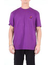 Calvin Klein T-shirt con applicazione - Viola