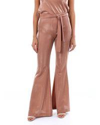 D. EXTERIOR D.pantalon classique extérieur de couleur phard - Marron