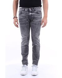 PT Torino - Normale jeans in dunkelgrauer farbe - Lyst