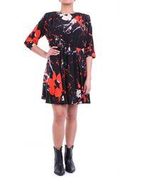 Jucca Robe courte fantaisie noire - Multicolore