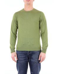 Heritage Green pullover mit rundhalsausschnitt und langen ärmeln - Grün