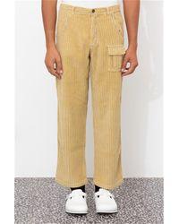 ERL Corduroy wide leg pant xl beige - Neutro