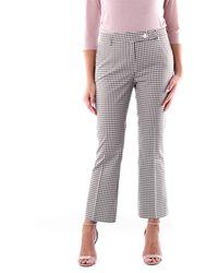 Via Masini 80 Pantalon classique à carreaux bicolores - Multicolore
