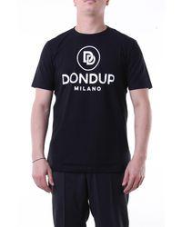 Dondup T-shirt con maniche corte di colore nero