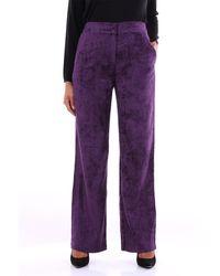 PT Torino Pantalon chino côtelé violet
