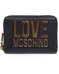 Love Moschino Portafoglio piccolo nero logo oro