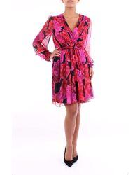 Blumarine Vestido corto bicolor de - Rosa