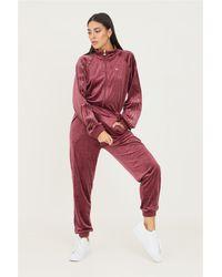 adidas Tuta boilersuit cozy velvet donna bordeaux - Rot