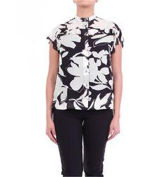 Calvin Klein Camicia manica corta beige e nero fantasia