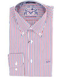 Paul & Shark Camicia di colore bianco blu e rosso