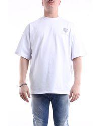 Gcds T-shirt con maniche corte di colore bianco