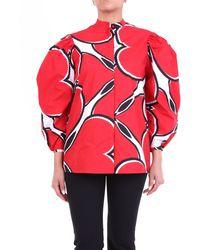Alexander McQueen Alexander mcqueen camisa coreana roja y blanca - Rojo