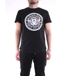 Balmain Camiseta negra de manga corta - Negro