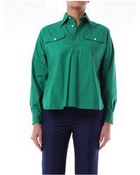 Plan C Camisas blusas - Verde