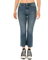 Tommy Hilfiger Jeans donna crop flare dw0dw07021.911 - Bleu