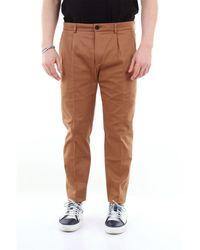 Department 5 - Departamento 5 pantalones de color liso con pliegues - Lyst