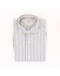 Eleventy Camisa de algodón a rayas - Multicolor