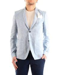 Patrizia Pepe 5s0691/aq13 giacca in lino con tasche - Blu