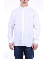 Tintoria Mattei 954 Camisa blanca teñido mattei 954 - Blanco