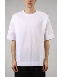 Juun.J T-shirt con stampa in cotone - Blanc