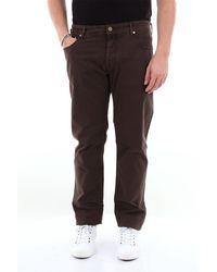 Jacob Cohen Vaqueros de 5 bolsillos en color liso - Marrón