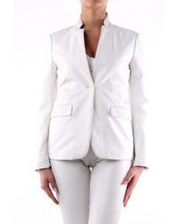P.A.R.O.S.H. Americana de piel cordero blanca - Blanco