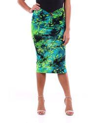Versace Falda larga fantasía verde