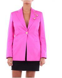 Versace Blazer de abotonadura sencilla - Rosa