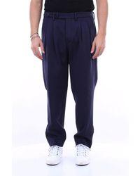 Michael Coal Pantalon capri stretch avec poche america comfort fit - Bleu