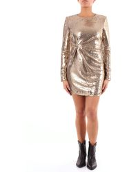 P.A.R.O.S.H. Vestido corto con lentejuelas doradas de - Metálico