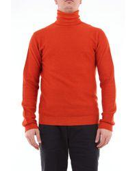Paolo Pecora Col roulé en laine vierge - Orange