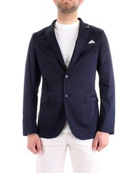 Roberto Pepe Pj2van giacca in cotone stretch slim fit - Blu