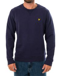 Lyle & Scott Felpa crewneck sweatshirt ml424vtr.z99 - Blu